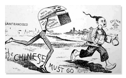 Cartoon from 1850s Depicting Anti-Chinese Sentiment