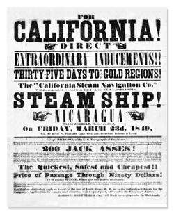 California Gold Rush Handbill 1849
