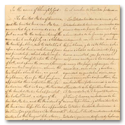 First Page of the Treaty of Guadalupe Hidalgo of 1848