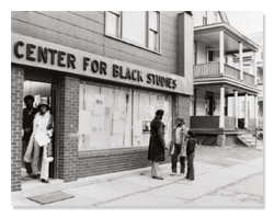 Front of Urban Center for Black Studies 1969